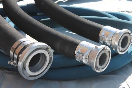 hoses after pressure testing